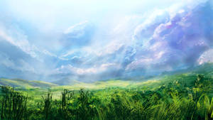 Grassy Field by Alexlinde