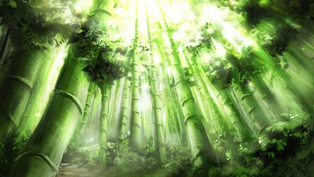 Bamboo Forest by Alexvanderlinde