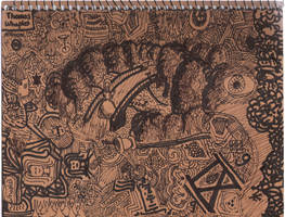 Bridge Scene (Sketchbook IX) by FennecFoxen