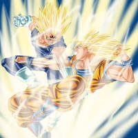 Majin Vegeta vs. Son Goku by SeverusTsume