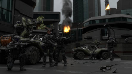 ODST Strike Team by enderianc