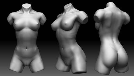 Daily Sculpt - Female Torso_01 by Ruloc