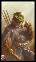 Daily Sketch - Unnamed Orc by Ruloc