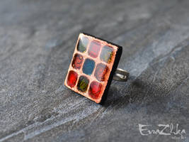 Handmade polymer clay ring Romantic by EvrazhkaStudio