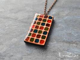 Handmade polymer clay necklace Romantic by EvrazhkaStudio