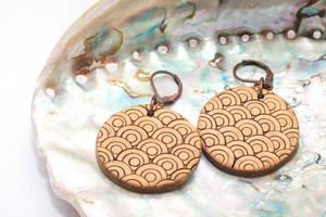 Handmade polymer clay earrings Fish scale by EvrazhkaStudio