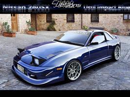 Nissan 240SX Impact Blue by chepu