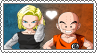 Android 18 x Krillin - Stamp by gaby-sunflower
