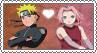 Naruto x Sakura - Stamp by gaby-sunflower