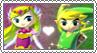 Toon Zelda x Toon Link - Stamp by gaby-sunflower