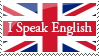 'I Speak English' Stamp by guille-x3