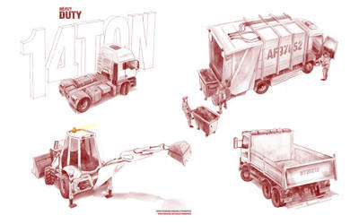 Heavy Duty - automotive illustration by skeletoninspace