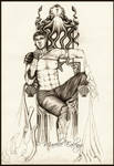 Darek on the throne of Nara by Mavelle-Ealenyr