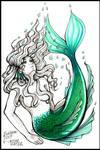Inktober 2017: Day 4 - Underwater by Mavelle-Ealenyr