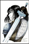 Inktober 2017: Day 6 - Sword by Mavelle-Ealenyr