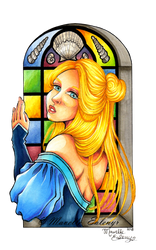 Narisah - Stained Glass by Mavelle-Ealenyr