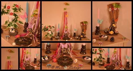 Beltane/May Day Altar - 2018 by Mavelle-Ealenyr