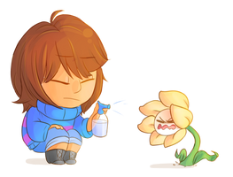 Bad Flowey by compassionIess