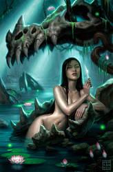 Switchblade Goddess by DSillustration