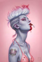 White Trash Zombie by DSillustration