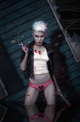 Dan Dos Santos: White Trash Zombie Apocalypse by DSillustration