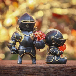 Knight Blooms: Black and Gold Edition by liadys