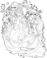 +Commission+OC lineart 50pts by Art-of-Kawaii