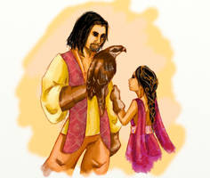oberyn, lady nym and mr nibbles by AdharaPhoenix