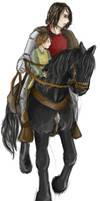 Sandor, Stranger and Arya by AdharaPhoenix