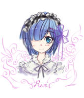 Rem Sketch by MightyLeafy