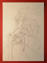 Baiken - Sketch by MightyLeafy