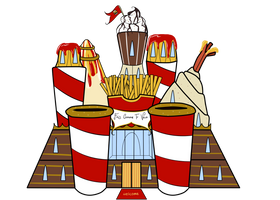 The Fast Food Castle (Just a freaky prototype) by Wi-Fu