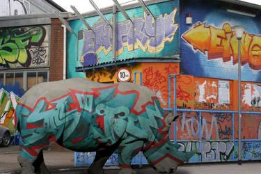 Urban Rhino by mist3rbl4ck