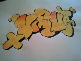 Graffiti with UNI POSCA by Darkmicha91