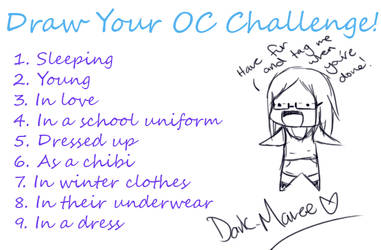 Draw Your Oc Challenge By Dark Maree On Deviantart