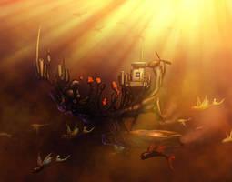 Flying ship by vandervals