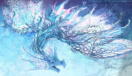 Abstract dragon by vandervals