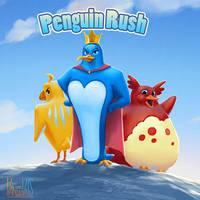 Penguin Rush Game by vandervals