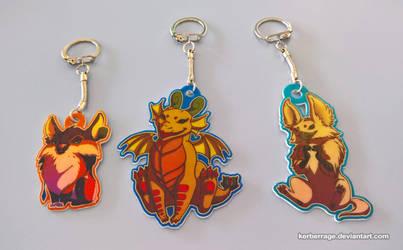 Custom Keychains by Kerberrage