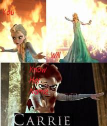 Carrie/Elsa by Jackunzelforever123