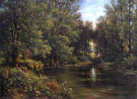 Pond in the park. Copy. by YuriyChernenko