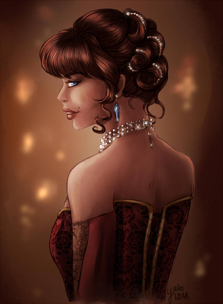 TDE: Viviona at a ball by Yako
