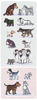 Polished FKMT dogs by emlan
