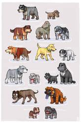 Polished Kaiji dogs by emlan