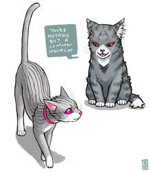 Akagi and Yukio cats by emlan