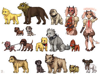 Dorohedoro doggies by emlan