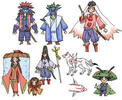 Okami doodles 2 by emlan