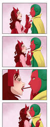 Vision x Scarlet Witch [Pocky Kiss] by vanillaxbiscuit