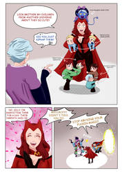 What if Scarlet Witch knew her AU children? by vanillaxbiscuit