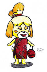 Isabelle in a Cheongsam by DrChrisman
